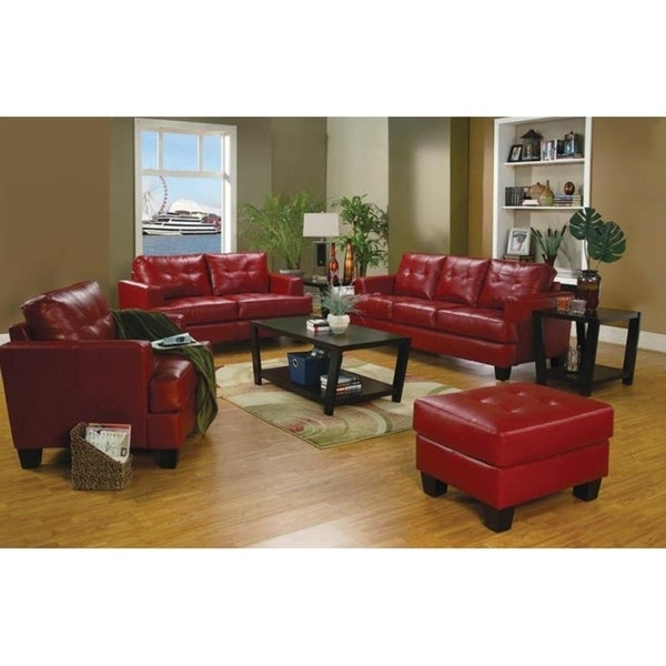 Cannon Breathable Leatherette Sofa Set