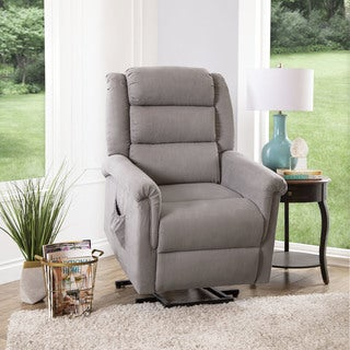 Abbyson Ontario Grey Power Lift Recliner