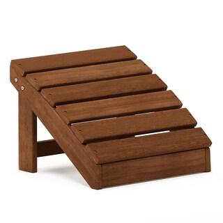 Furinno Tioman Small Hardwood Adirondack Footstool in Teak Oil