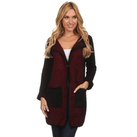 High Secret Women's Block Color Cardigan Coat