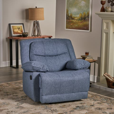 Estrada Contemporary Fabric Glider Recliner by Christopher Knight Home
