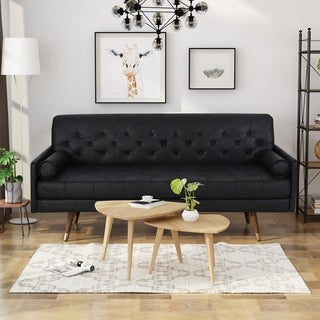 Link to Caplan Traditional Microfiber Sofa by Christopher Knight Home Similar Items in Sofas & Couches