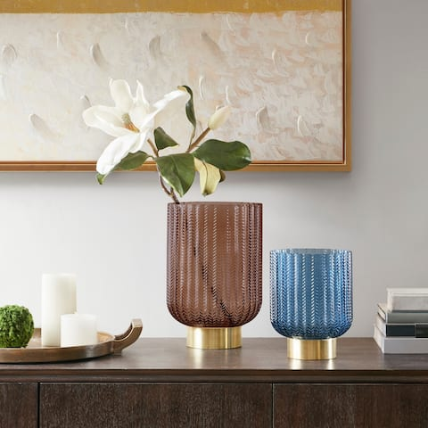 Madison Park Serene Textured Vase 2-Color Option