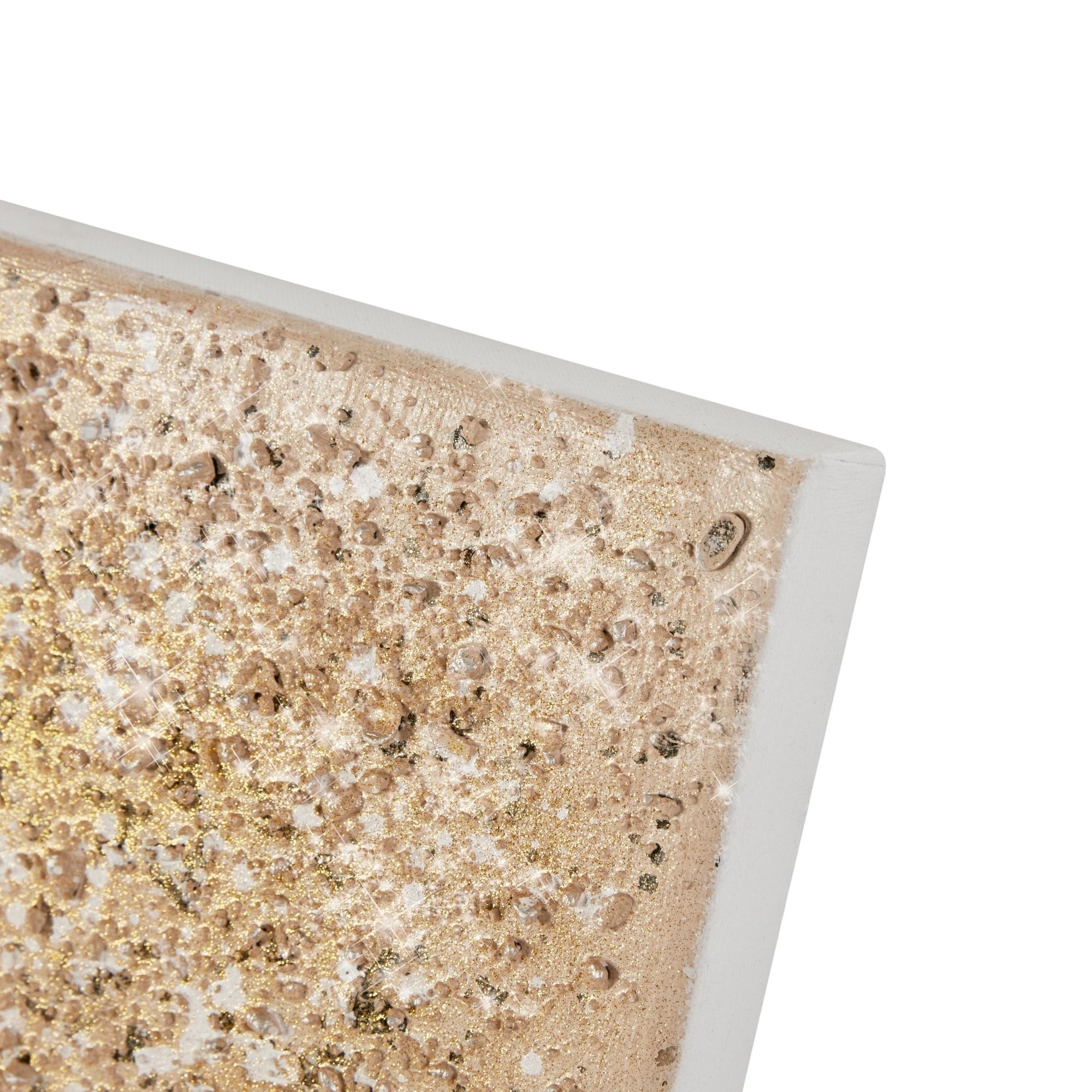 Shop Madison Park Golden Glimmer Hand Brushed Embellished Canvas Set Of 2 Gold On Sale Overstock 25560368