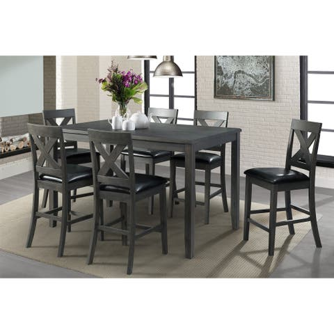 Picket House Furnishings Alexa 7-piece Grey Counter-height Dining Set