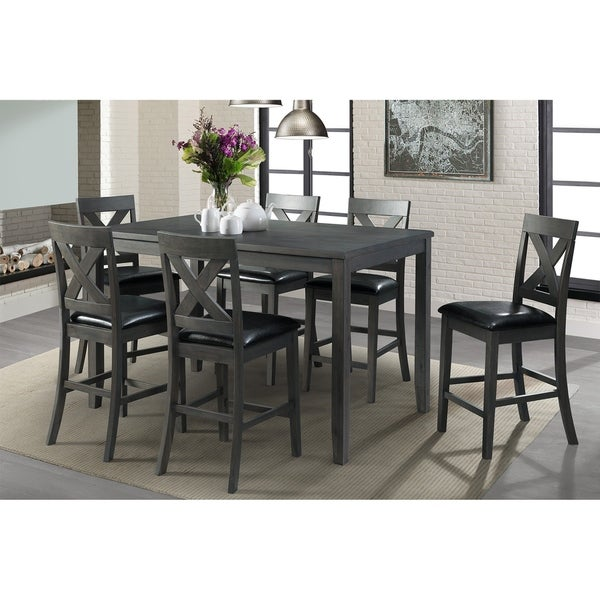 Counter Height Dining Sets On Sale: Shop Picket House Furnishings Alexa 7-piece Grey Counter