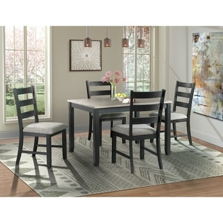 Picket House Kona Gray 5PC Dining Set-Table & Four Chairs