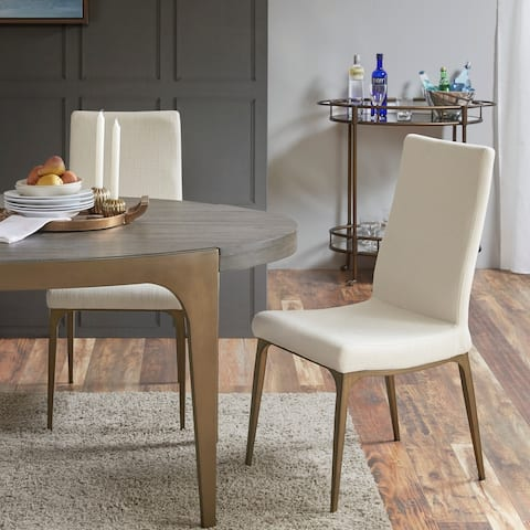 """Madison Park Callaway Cream Dining Side Chairs (Set of 2) - 17.5""""w x 23.5""""d x 38""""h"""