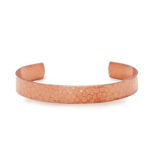 Solid Hammered Copper Cuff Bracelet, Natural Relief of Joint Pain 10mm