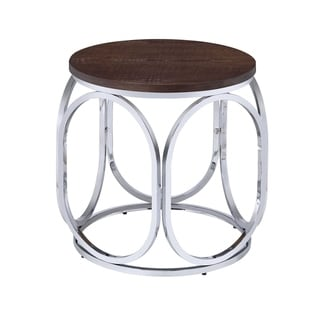 Picket House Furnishings Jayme Wood/ Metal Round End Table