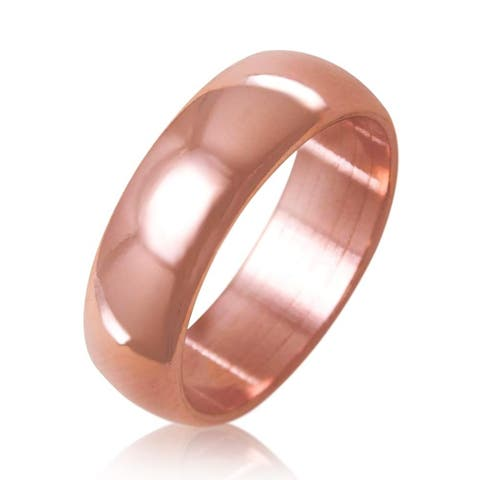Antimicrobial Pure Solid Copper Ring Natural Relief of Joint Pain, 6mm