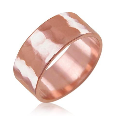 Antimicrobial Solid Hammered Copper Ring Natural Relief of Joint Pain