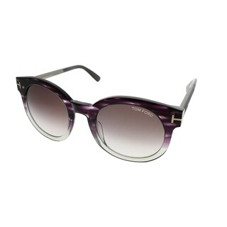 Tom Ford Round TF 435 Janina 83T Unisex Purple Gradient Frame Purple Gradient Lens Sunglasses