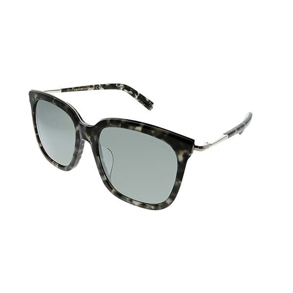789f5a75e02ae Tom Ford Square TF 483 56C Unisex Grey Havana Frame Grey Lens Sunglasses