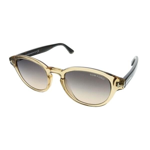 cfdc2b9bcf5 Tom Ford Round TF 521 Von Bulow 39B Unisex Transparent Yellow Frame Grey  Gradient Lens Sunglasses