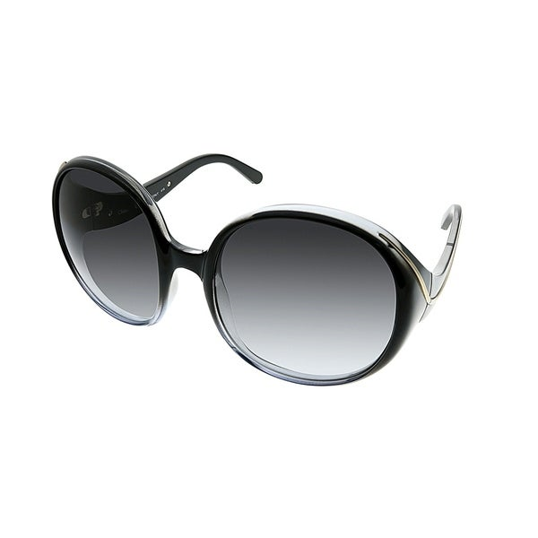 a1f420493b8e Chloe Round CE 727S Nelli 2 Women Black Shaded Frame Grey Gradient Lens  Sunglasses