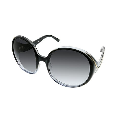 dbd550f02fb6 Chloe Round CE 727S Nelli 2 Women Black Shaded Frame Grey Gradient Lens  Sunglasses