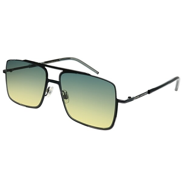 e727914e43f9 Marc Jacobs Square Marc 35 65Z JE Unisex Black Frame Yellow Gradient Lens  Sunglasses