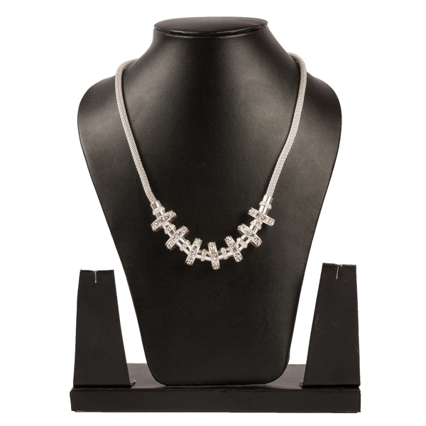 cf2c9af6d Melissa Sparkling Necklace By Gempro - Silver - drop length: 18 inches / 45  cms