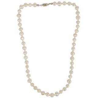 Genuine Fresh Water Pearl Necklace By Gempro - drop length: 18 inches / 46 cm