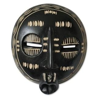 Handmade Good Chief Balumba Ghanaian Wood Mask (Ghana)