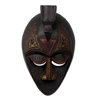 Handmade Karma Bird Ewe Wood Mask (Ghana)