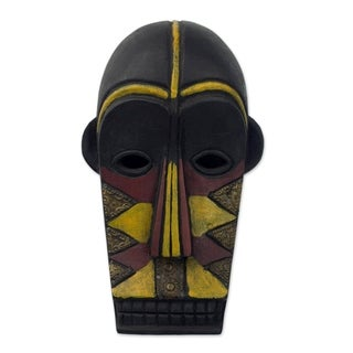 Handmade Happiness Gabonese African Wood Mask (Ghana)