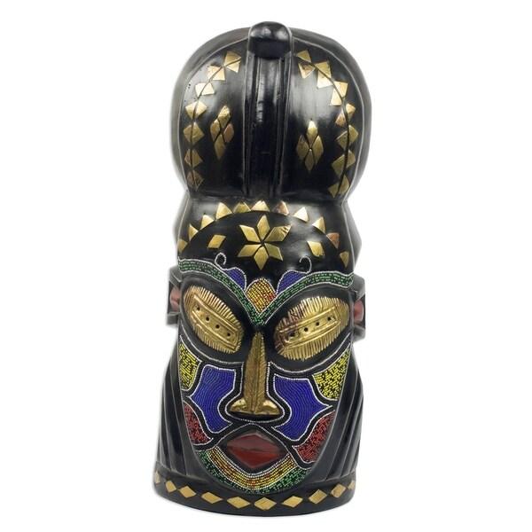 d9d886bafdb Shop Handmade Obianuju African Wood Beaded Mask (Ghana) - On Sale - Free  Shipping Today - Overstock - 25571572