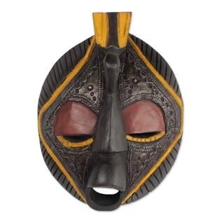 Handmade Patience Africa Wood Mask (Ghana)