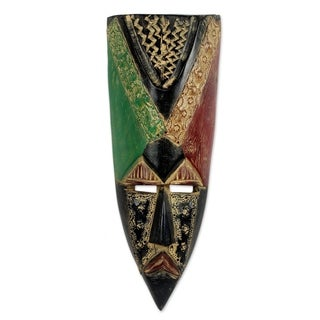 Handmade Good Akan King African Mask (Ghana)
