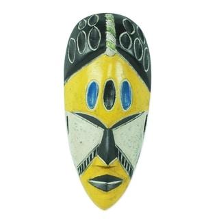 Handmade Gold Coast African Mask (Ghana)