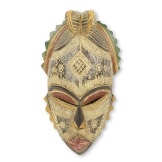 Akan Helper African Wood Mask