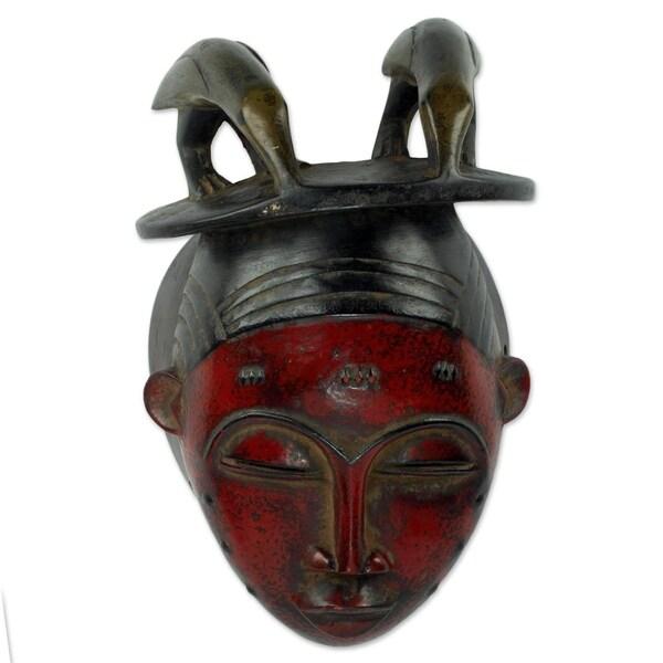 Handmade Yaure I African Wood Mask (Ghana)