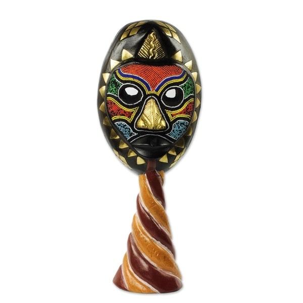 Handmade Sumsu African Wood Mask (Ghana)