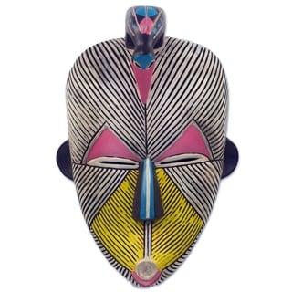 Handmade Songye Kwifibe I African Wood Mask (Ghana)