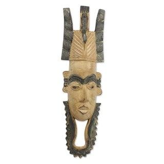 Handmade Mokolade African Wood Mask (Ghana)