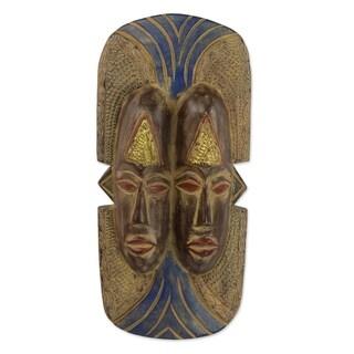 Handmade Nduka Is Life African Wood Mask (Ghana)
