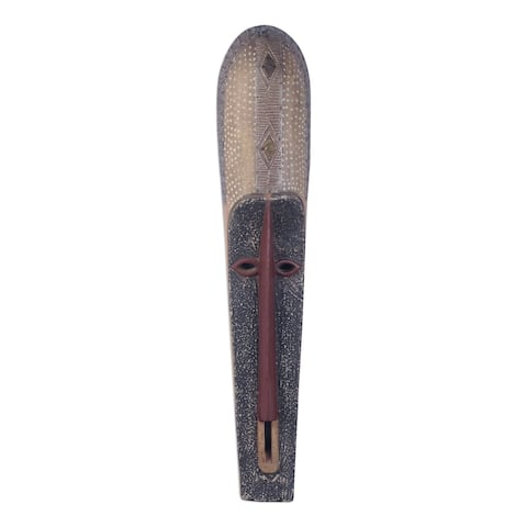 Handmade Beautiful Nketiabah African Wood Mask (Ghana)