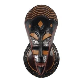 Handmade Ahemaa Slipper African Wood Mask (Ghana)