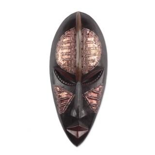 Handmade Esaabia African Wood Mask (Ghana)