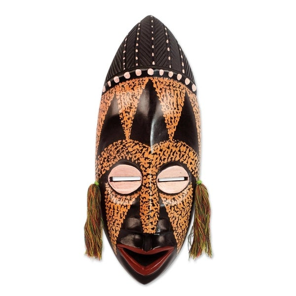 Handmade Calm And Patient African Wood Mask (Ghana)