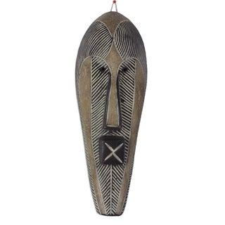 Handmade Songye Man African Wood Mask (Ghana)