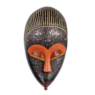 Handmade Adom Ahoto African Wood Mask (Ghana)