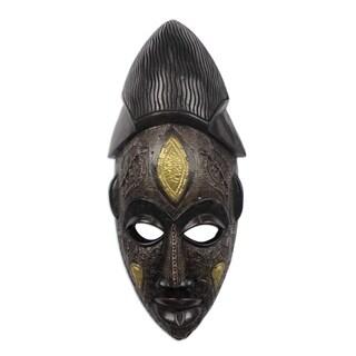 Handmade Odwira African Wood Mask (Ghana)