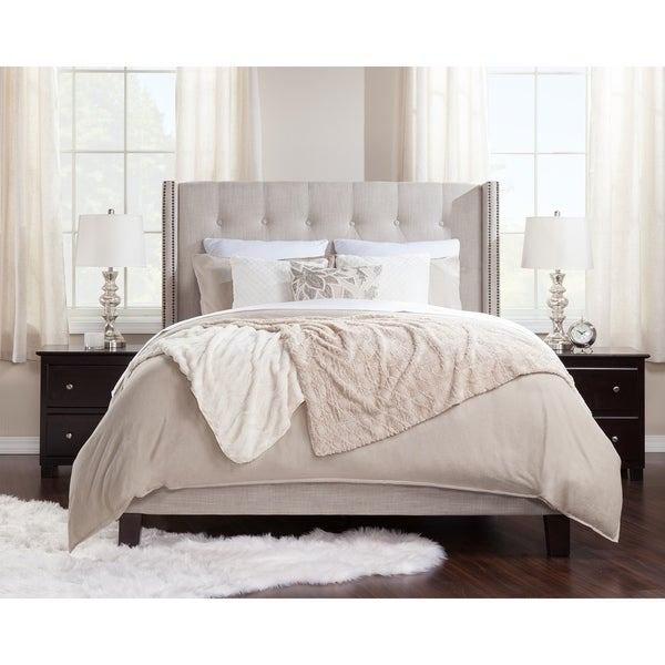 Venice Upholstered Traditional Bed King in Pebble Beach