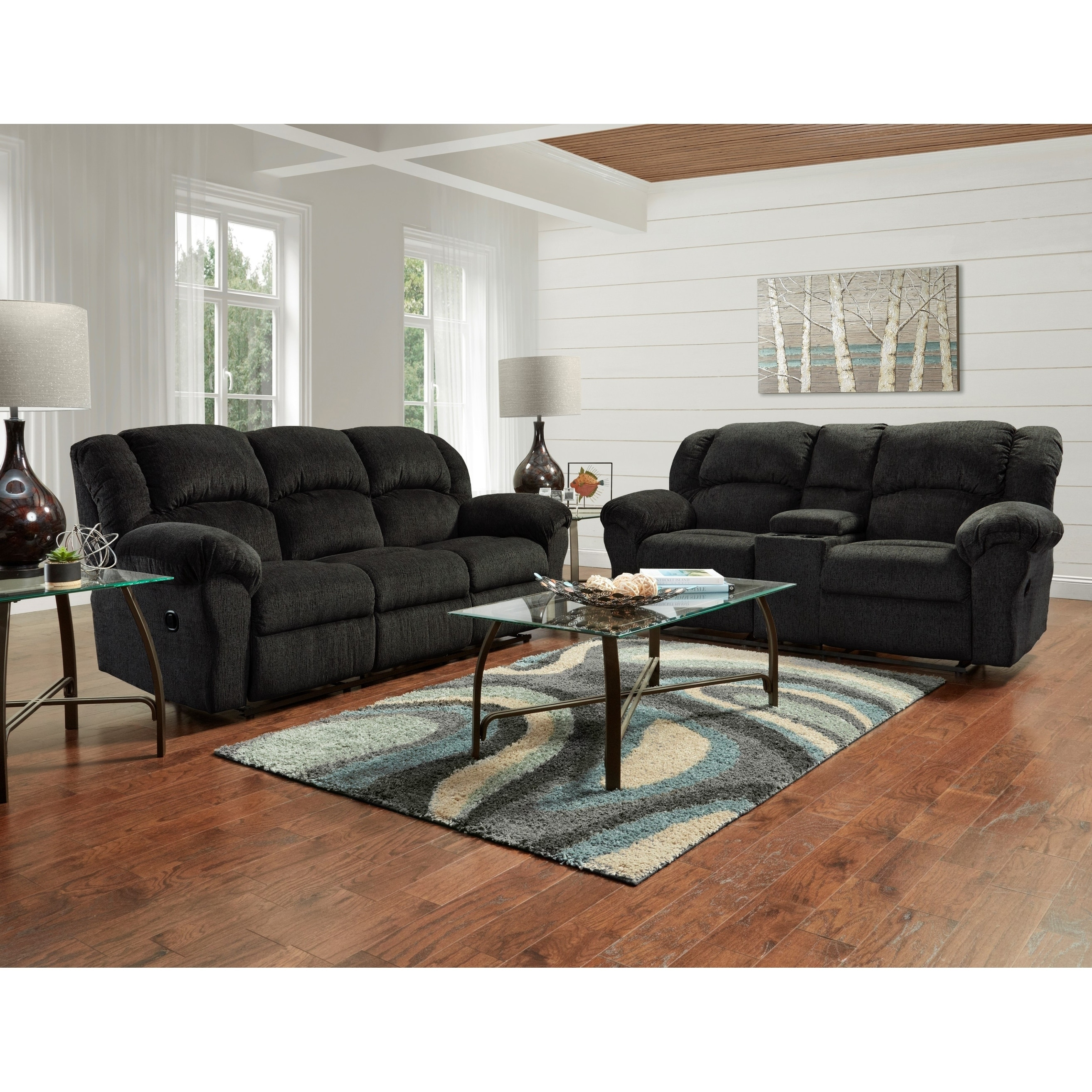 Microfiber Sofa And Loveseat Set