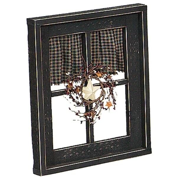 Primitive Decorative Window with Curtain