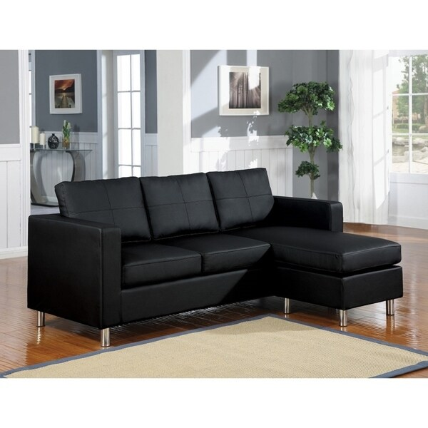 Skuodas Reversible Sectional Sofa Upholstered in PU Leather