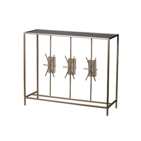 Modern Chic Champagne Console Table