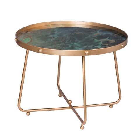 Organic Elements Modern Green Cocktail Table